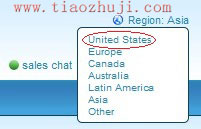 选择地区为美国
