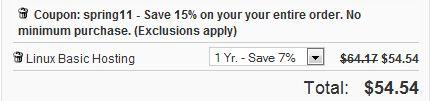 Domain发布无最低消费限制,优惠15%的优惠码一枚