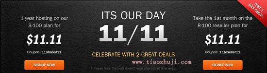 光棍节促销,Eleven2主机11.11美元一年